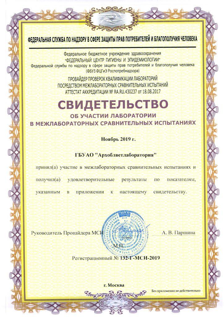 Межлабораторные сличительные испытания (МСИ)
